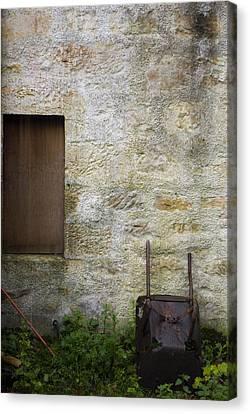 Garden Wall Dornoch Scotland Canvas Print