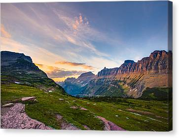 Hdr Landscape Canvas Print - Garden Wall Sunset by Adam Mateo Fierro