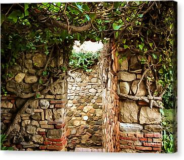Garden Walls Canvas Print
