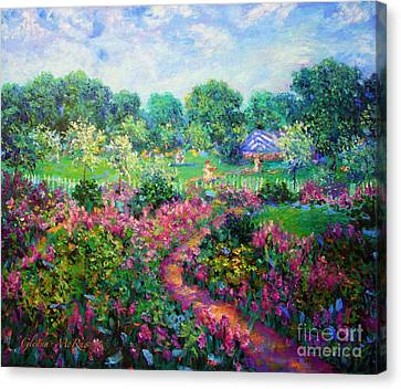 Garden Wedding Canvas Print by Glenna McRae