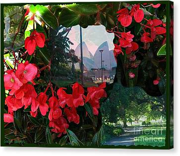 Canvas Print featuring the photograph Garden Whispers by Leanne Seymour