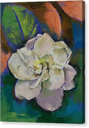 White Gardenia Canvas Print - Gardenia by Michael Creese