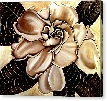 White Gardenia Canvas Print - Gardenia by Victoria Rhodehouse