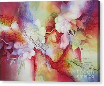Gardenias Canvas Print by Deborah Ronglien