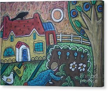 Gardening 1 Canvas Print by Karla Gerard