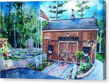 Scott Nelson Canvas Print - Gardening Shed by Scott Nelson