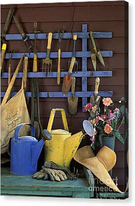 Gardening Tools - Fm000055 Canvas Print by Daniel Dempster