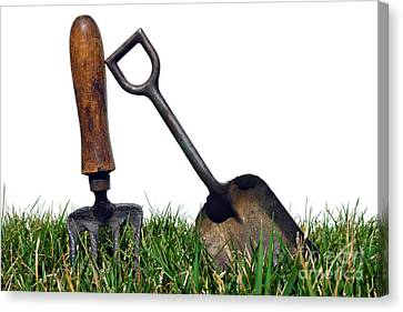 Gardening Tools Canvas Print by Olivier Le Queinec