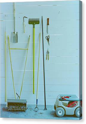 Gardening Tools Canvas Print by Romulo Yanes