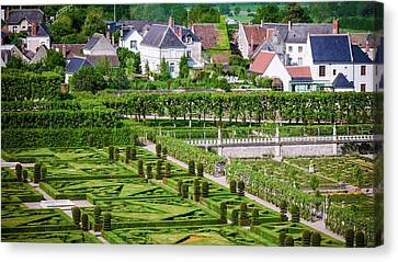 Chateau Canvas Print - Gardens And Village, Chateau De by Russ Bishop
