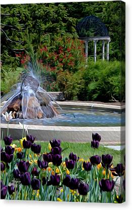 Canvas Print featuring the digital art Gardens At Maymont by Kelvin Booker