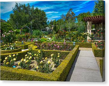 Canvas Print featuring the photograph Gardens Of The World by Ross Henton