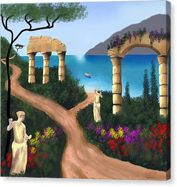 Gardens Of Venus Canvas Print by Larry Cirigliano