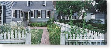 Williamsburg Canvas Print - Gardens Williamsburg Va by Panoramic Images