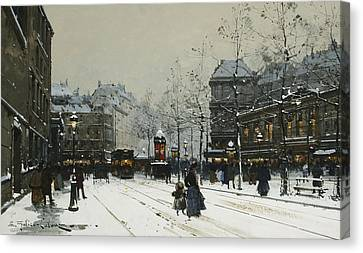 Gare Du Nord Paris Canvas Print by Eugene Galien-Laloue