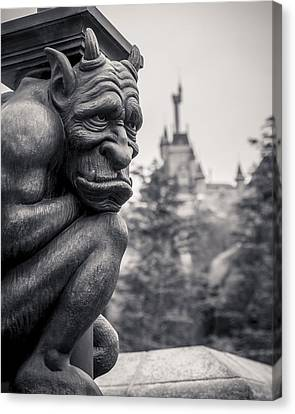 Kids Room Art Canvas Print - Gargoyle by Adam Romanowicz