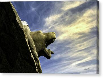 Gargoyle At Parc Guell In Barcelona - Spain Canvas Print by Madeline Ellis