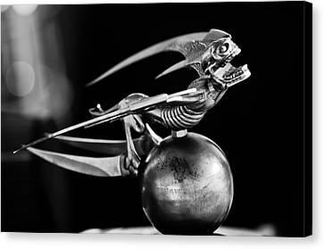 Gargoyle Hood Ornament 2 Canvas Print