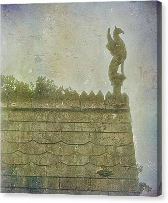 Canvas Print featuring the photograph Gargoyle by Kandy Hurley
