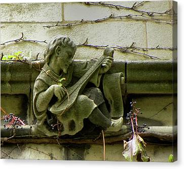 Gargoyle With Grape Vines University Of Chicago October 2009 Canvas Print by Joseph Duba