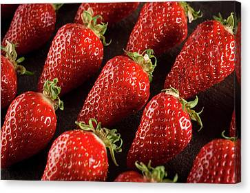 Strawberry Canvas Print - Gariguette Strawberries by Aberration Films Ltd