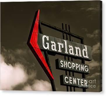 Garland Texas Shopping Canvas Print by Sonja Quintero