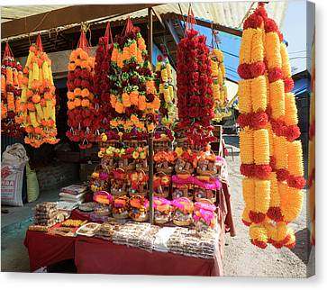 Garlands For Sale Canvas Print by Panoramic Images
