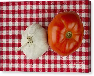 Garlic And Tomato Canvas Print by Blink Images