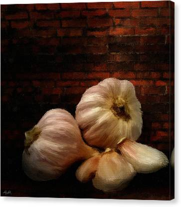Garlic Canvas Print by Lourry Legarde