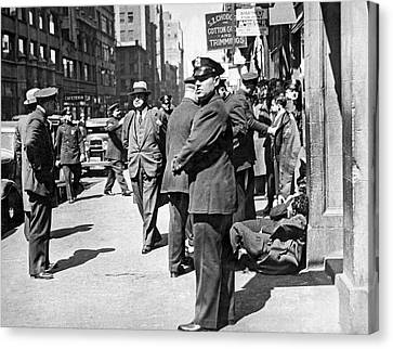 Police Officer Canvas Print - Garment Workers Attacked by Underwood Archives