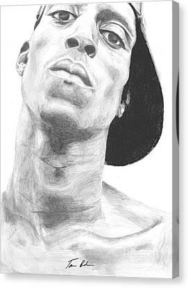 Canvas Print featuring the drawing Garnett 3 by Tamir Barkan