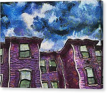 Garret Row Canvas Print by Wendy J St Christopher