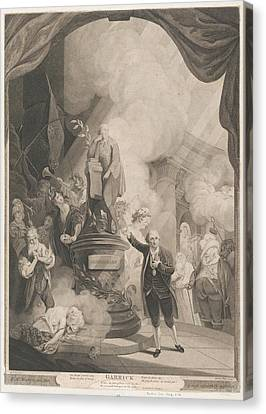 Stippling Canvas Print - Garrick Speaking The Jubilee Ode by after Robert Edge Pine