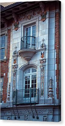 University Of Texas Canvas Print - Garrison Hall Window Ut by Joan Carroll