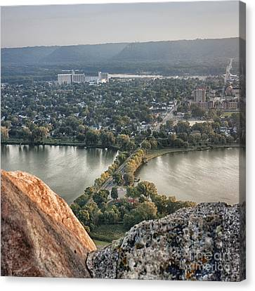 Canvas Print featuring the photograph Garvin Heights View by Kari Yearous