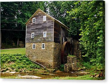 Canvas Print featuring the photograph Garvines Grist Mill by Bob Sample