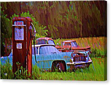 Gas And Go Canvas Print by Bill Cannon