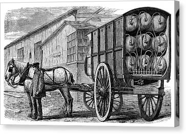 Gas Cylinder Delivery Canvas Print by Science Photo Library