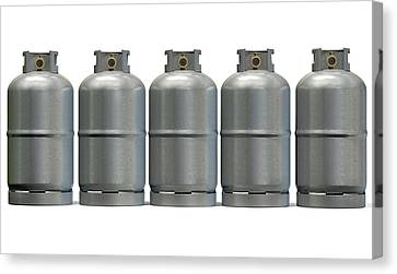 Gas Cylinder Row Canvas Print