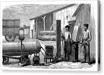 1874 Canvas Print - Gas Cylinders by Science Photo Library