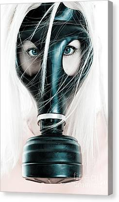 Gas Mask Canvas Print by Jt PhotoDesign