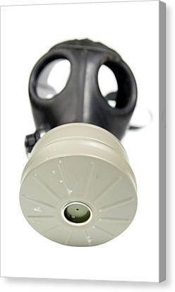 Gas Mask On Whit Canvas Print by Photostock-israel