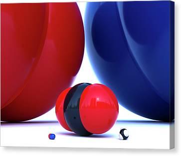 Gas Molecules Canvas Print by Indigo Molecular Images