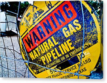 Gas Pipeline Canvas Print