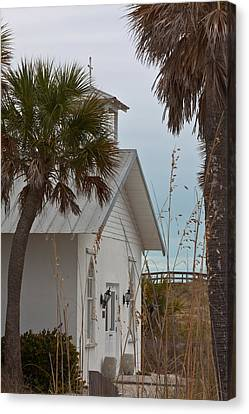 Canvas Print featuring the photograph Gasparilla Island State Park Chapel by Ed Gleichman