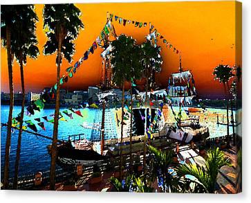 Gasparilla Sunset Canvas Print by David Lee Thompson