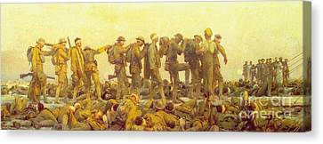 Gassed Canvas Print by Pg Reproductions