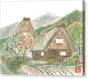 Gassho-zukuri Home Canvas Print