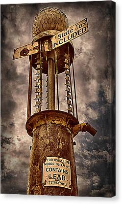 Gassing Up In Jerome Canvas Print by Priscilla Burgers