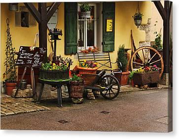 Gast Haus Display In Rothenburg Germany Canvas Print